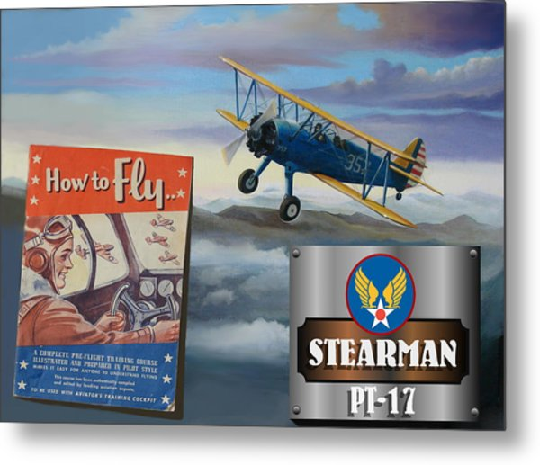 How To Fly Stearman Pt-17 Metal Print