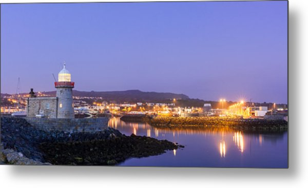 Howth Harbour Lighthouse Metal Print