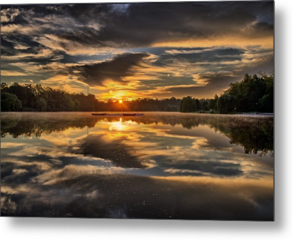 Hoyt Lake Sunrise Metal Print