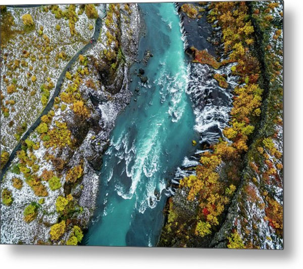 Hraunfossar, Waterfall, Iceland Metal Print by Arctic-images