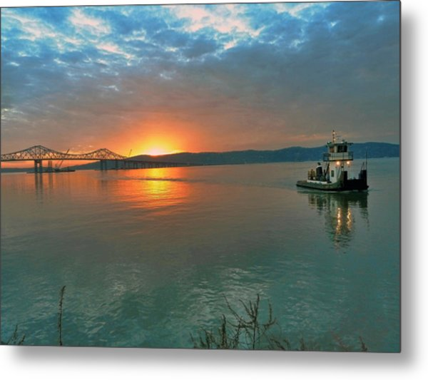 Hudson River Sunset Metal Print