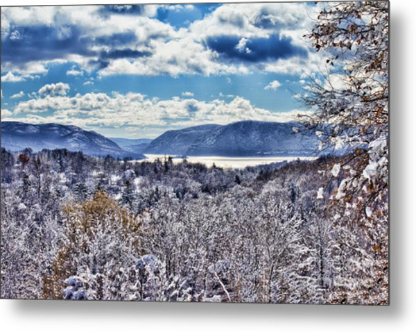 Hudson Valley First Snow Mystic Colors Metal Print