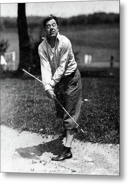 Huey P. Long Play Golf Metal Print by Artist Unknown