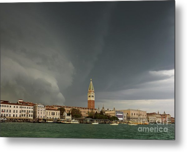 Huge Storm At The Grand Canal In Venice Metal Print