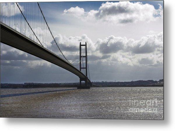 Humber Bridge. Metal Print by Andrew Barke