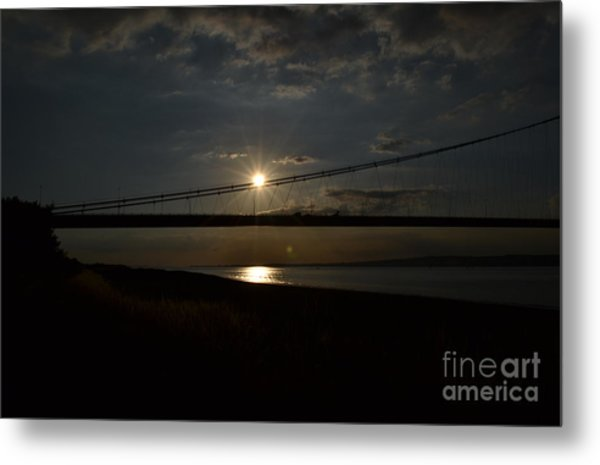 Humber Bridge Sunset Metal Print