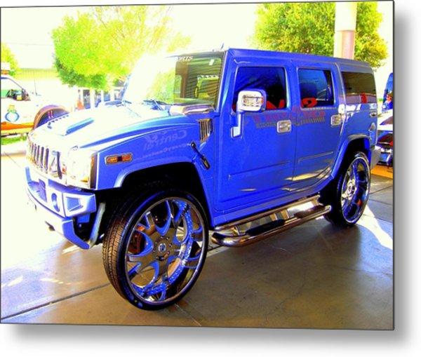 Hummer Too Blue Metal Print