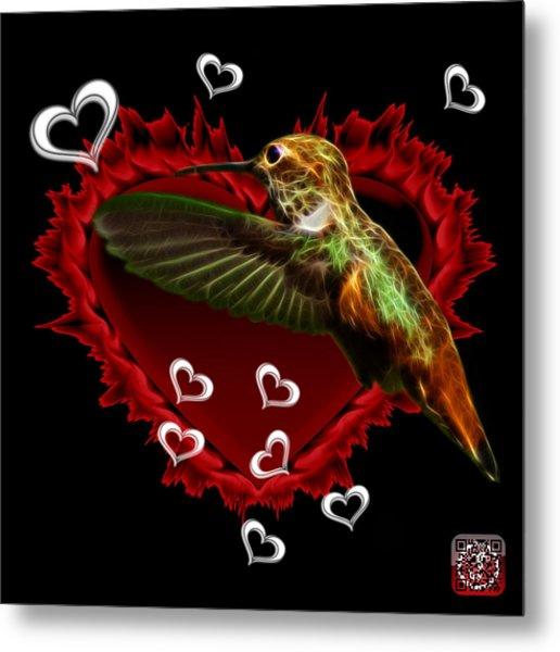 Metal Print featuring the digital art Hummingbird - 2055 F by James Ahn