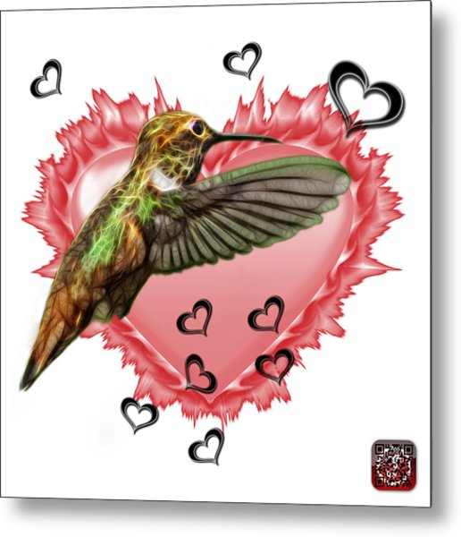 Metal Print featuring the painting Hummingbird - 2055 F S M by James Ahn