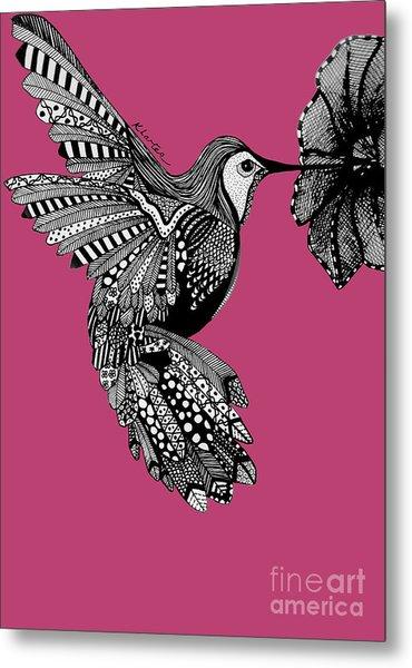 Hummingbird Flight 5 Metal Print by Karen Larter