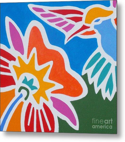 Hummingbird Number One Metal Print by Stephen Davis