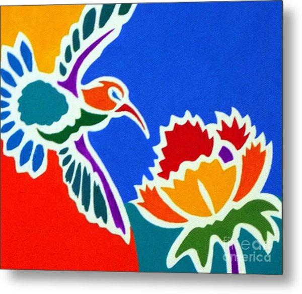 Hummingbird Number Two Metal Print by Stephen Davis