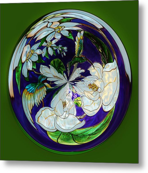 Hummingbird Orb Metal Print by Paulette Thomas