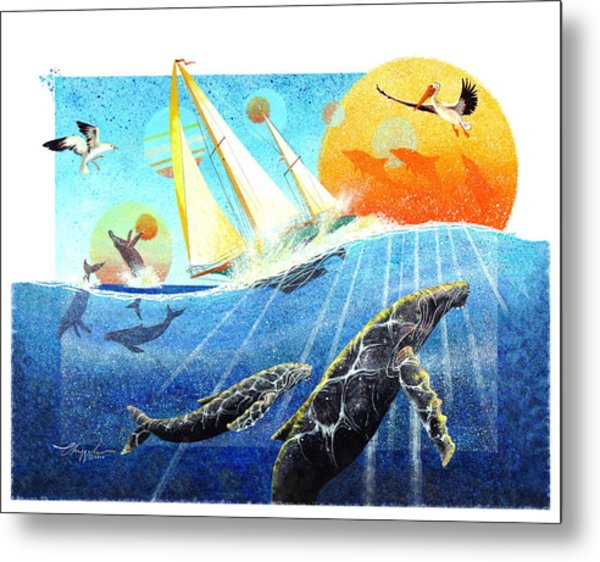 Humps In The Sea Metal Print