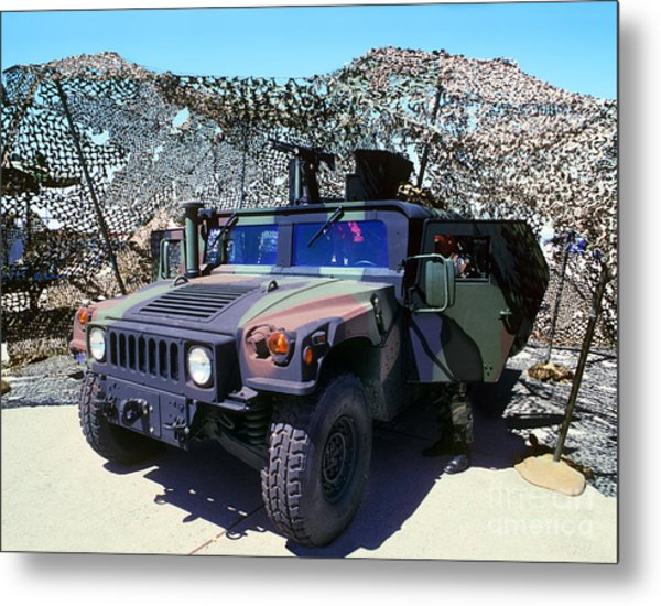 Humvee Metal Print