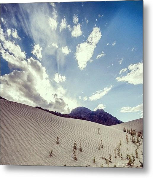 Sand And Clouds Metal Print