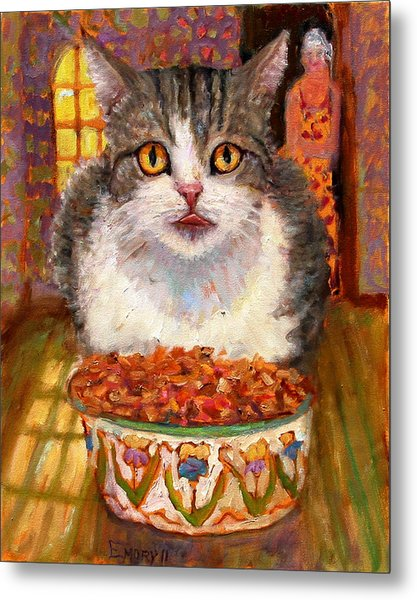 Hungry Cat Metal Print