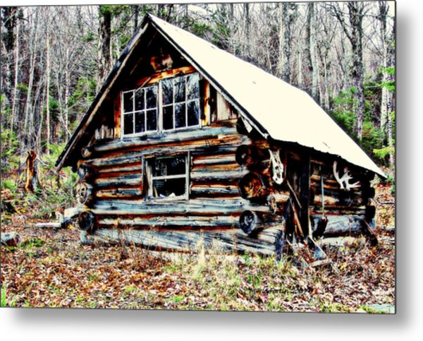 Hunting Camp Metal Print by Marie Fortin
