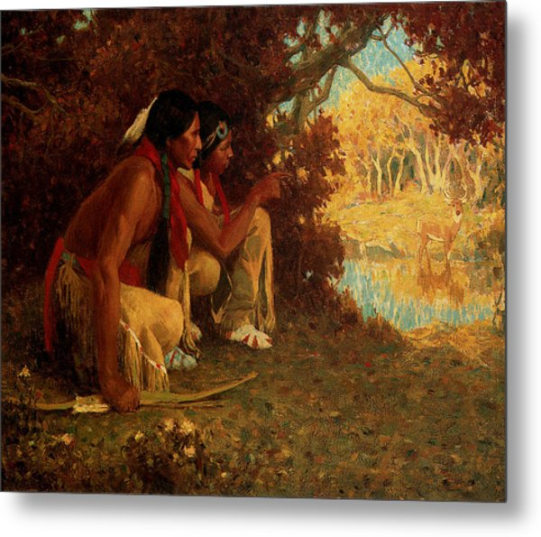 Hunting For Deer Metal Print by Eanger Irving Couse