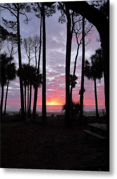 Hunting Island Sunrise Metal Print