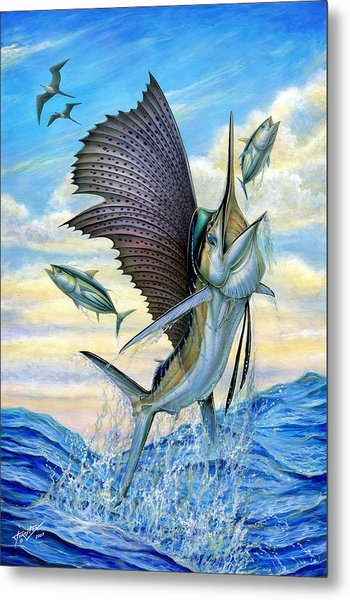 Hunting Of Small Tunas Metal Print
