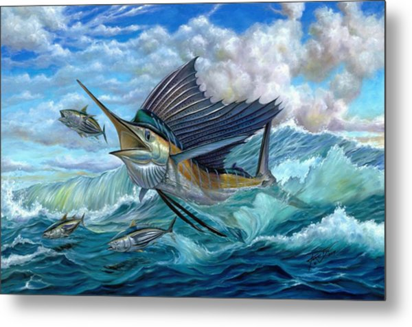 Hunting Sail Metal Print