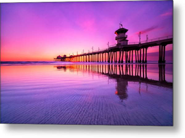 Huntington Beach Metal Print by Lincoln Harrison