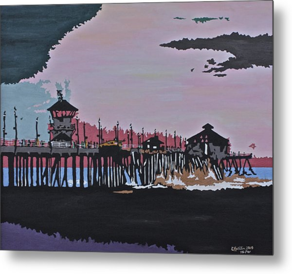 Huntington Beach Pier 1 Metal Print