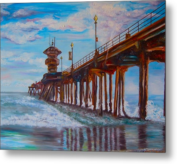 Huntington Beach Pier 2 Metal Print