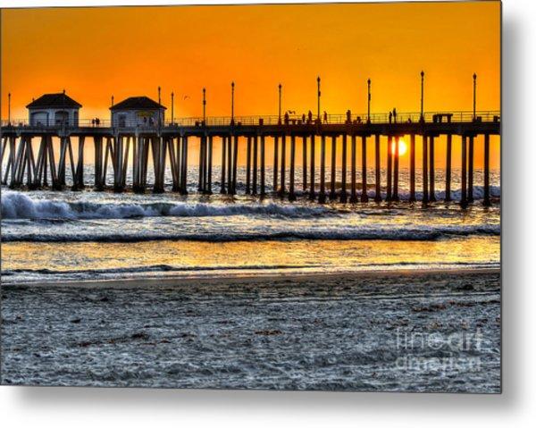 Huntington Beach Sunset Metal Print