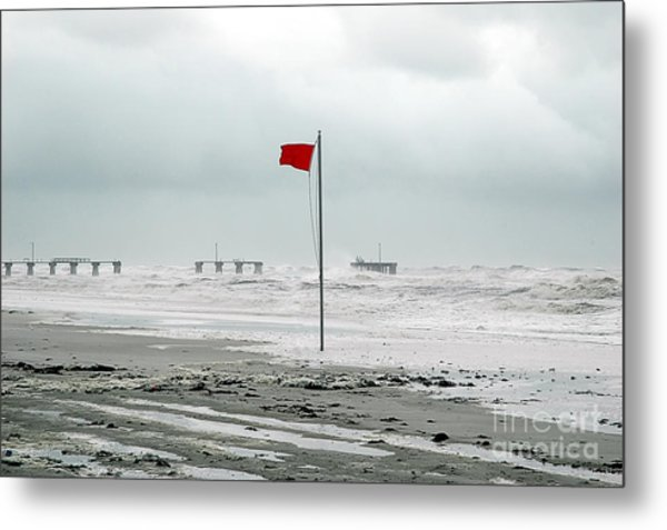 Hurricane At Gulf Shores Alabama Metal Print