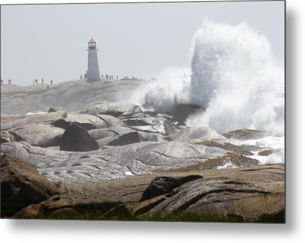 Hurricane Irene At Peggy's Cove Nova Scotia Canada Metal Print