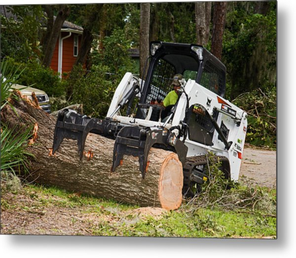 Hurricane Irma Damage, Bobcat Tractor Metal Print by Millard H. Sharp
