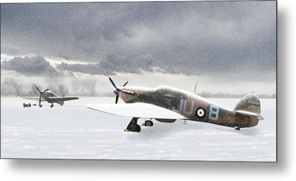 Hurricanes In The Snow Metal Print