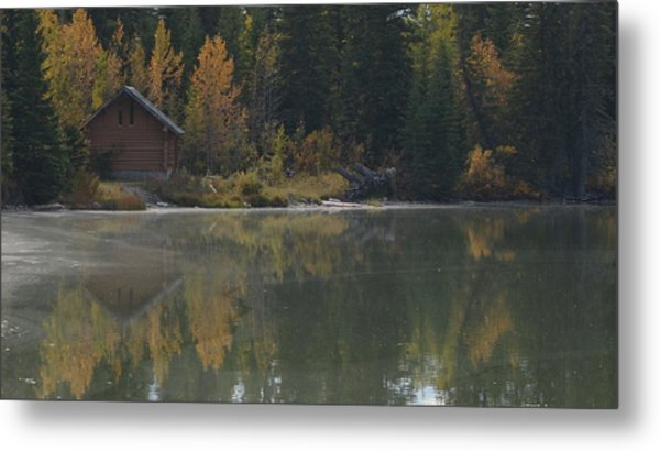 Hut By The Lake Metal Print