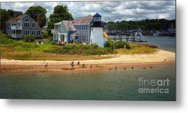 Hyannis Light Migrating Geese Metal Print