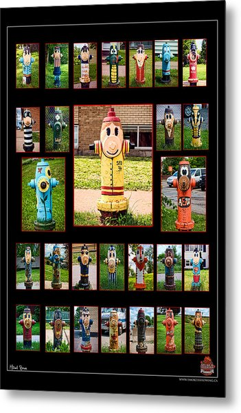 Hydrants Metal Print by Mitchell Brown