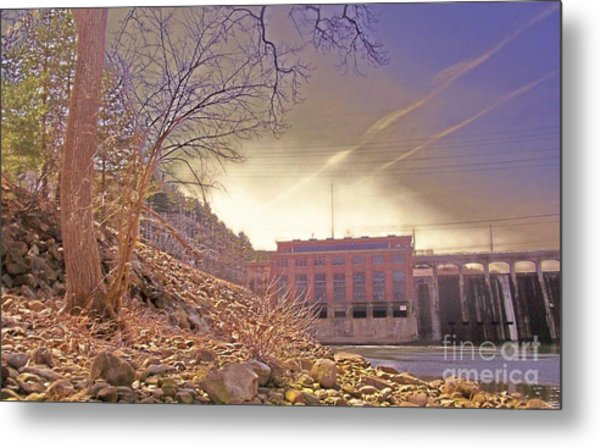 Hydro Electric Dam  N Metal Print