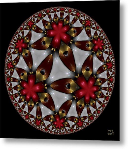 Hyper Jewel I - Hyperbolic Disk Metal Print