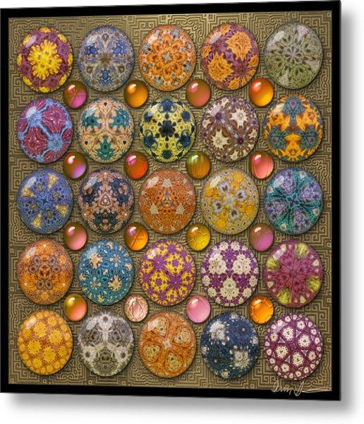 Hyperbolicrochet Kaleidoscope Quilt Metal Print