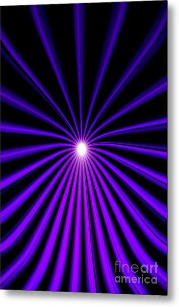 Hyperspace Violet Portrait Metal Print