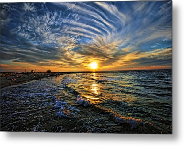 Metal Print featuring the photograph Hypnotic Sunset At Israel by Ron Shoshani