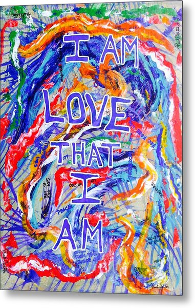 I Am Love Metal Print