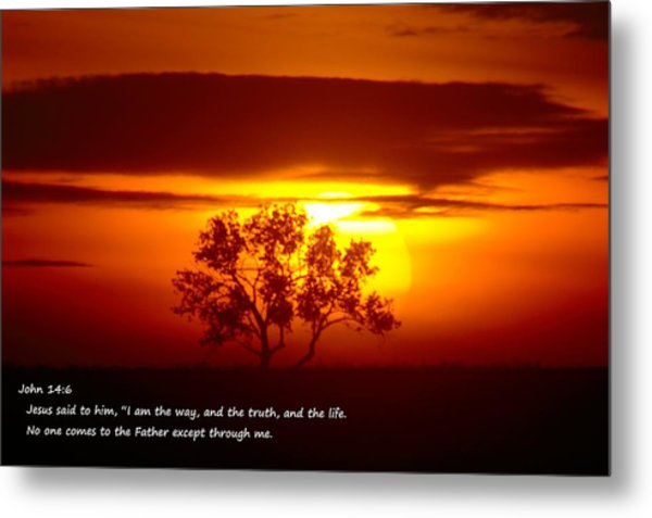 I Am The Way John 14-6 Metal Print