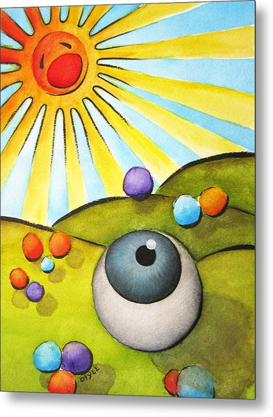 I Can See Clearly Now Metal Print