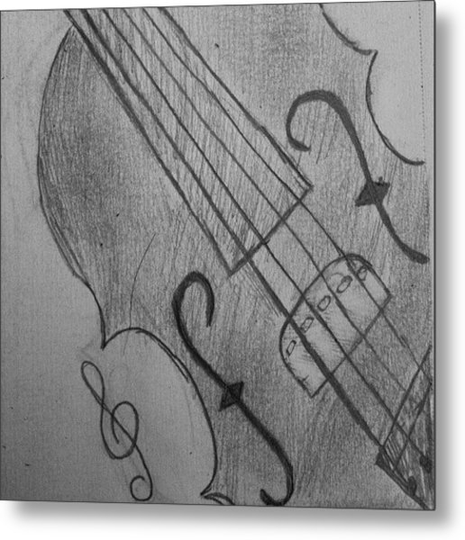 I Drew Some Of A Violin Metal Print
