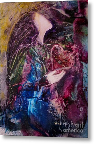Metal Print featuring the painting I Give You My Heart by Deborah Nell