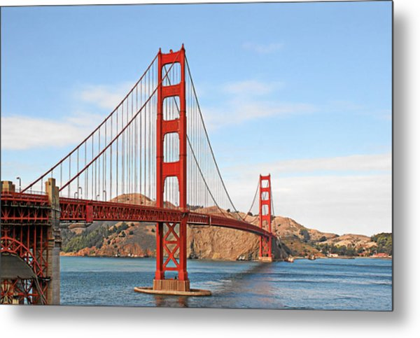 I Guard The California Shore - Golden Gate Bridge San Francisco Ca Metal Print