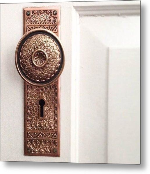 I Just Love These Old Door Knobs! Metal Print