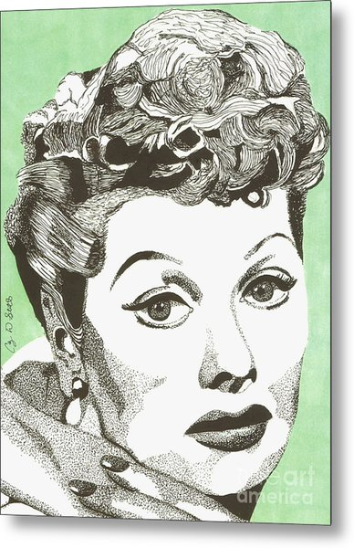 I Love Lucy Metal Print